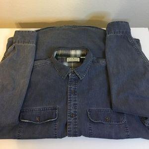 LL Bean Flannel Lined Hurricane Shirt SZ L